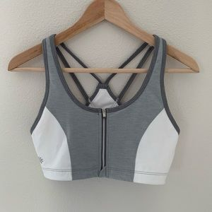 Athleta Sports Bra Size M White Gray